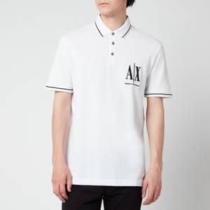Armani Exchange Men's Ax Logo Polo Shirt - White