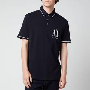Armani Exchange Men's Ax Logo Polo Shirt - Navy