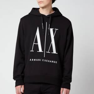 Armani Exchange Men's Large Ax Logo Hoodie - Black