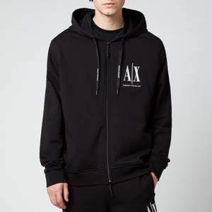 Armani Exchange Men's Ax Logo Zip Hoodie - Black
