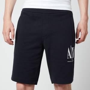 Armani Exchange Men's Ax Logo Sweat Shorts - Navy
