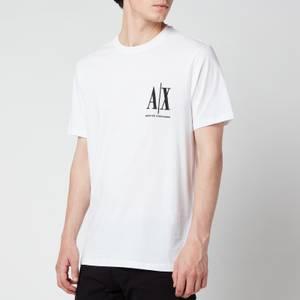 Armani Exchange Men's Small Ax Logo T-Shirt - White