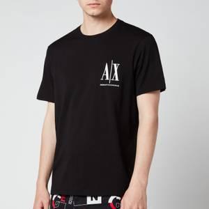 Armani Exchange Men's Small Ax Logo T-Shirt - Black
