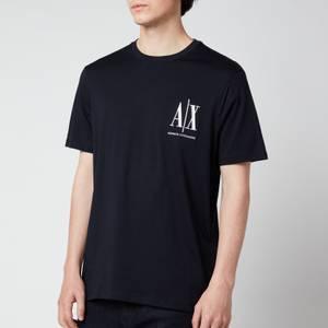 Armani Exchange Men's Small Ax Logo T-Shirt - Navy