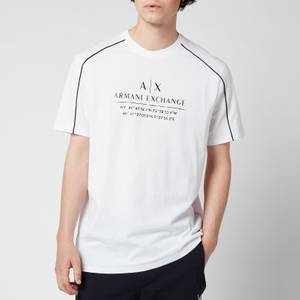 Armani Exchange Men's Shoulder Piping T-Shirt - White