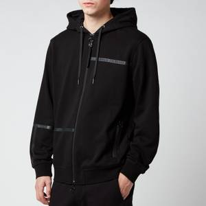 Armani Exchange Men's Tape Logo Hoodie - Black