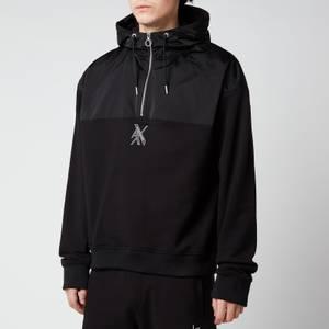 Armani Exchange Men's Half Zip Hoodie - Black