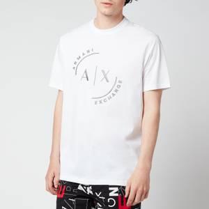 Armani Exchange Men's Ax Circle Logo T-Shirt - White
