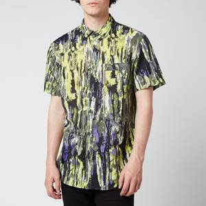 Armani Exchange Men's Printed Short Sleeve Shirt - Multi