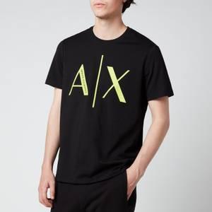 Armani Exchange Men's Neon Logo T-Shirt - Black