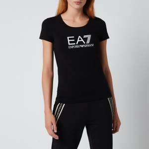 Emporio Armani EA7 Women's Train Shiny T-Shirt - Black