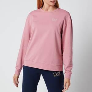 Emporio Armani EA7 Women's Train Shiny T-Top Sweatshirt - Fox Glove/Light Gold