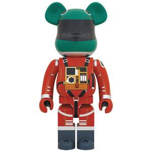 Medicom 2001 A Space Odyssey Green Helmet & Orange Spacesuit 1000% Be@rbrick