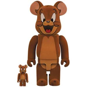 Medicom Tom & Jerry Flocky Jerry 100% X 400% Be@rbrick 2-pack