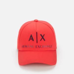 Armani Exchange Men's Corp Logo Cap - Red/Blue