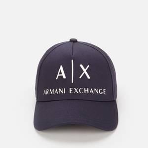 Armani Exchange Men's AX Logo Cap - Navy/White