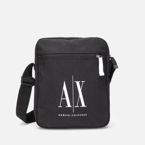 Armani Exchange Men's Ax Logo Crossbody Bag - Black