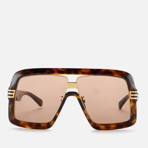 Gucci Men's Oversized Sunglasses - Havana/Brown