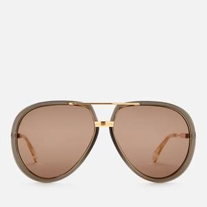 Gucci Men's Metal Sunglasses - Grey/Gold/Brown