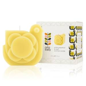 Orla Kiely Moulded Hen Candle - White Grapefruit & Basil