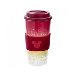 Mickey Berry: Plastic Lidded Mug: Berry Glitter