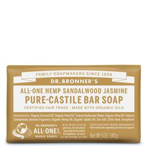 Dr Bronner's Pure Castile Bar Soap Sandalwood and Jasmine 140g