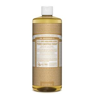 Dr Bronner's Pure Castile Liquid Soap Sandalwood and Jasmine 946ml