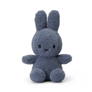 Miffy Recycled Teddy Sitting Toy - Blue