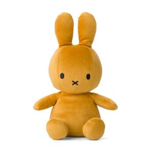 Miffy Velvet Teddy Sitting Toy - Ochre