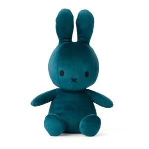 Miffy Velvet Teddy Sitting Toy - Opal Blue