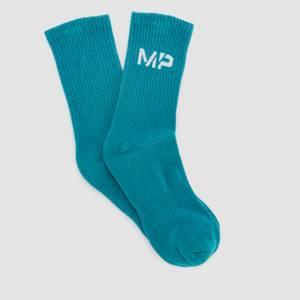 MP Men's Neon Brights Crew Socks (3 Pack) - Mango/Deep Teal/ Cactus