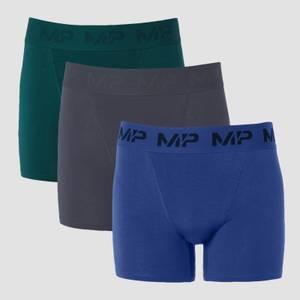 MP Men's Essential Boxers (3 Pack) - Deep Teal/Graphite/Intense Blue