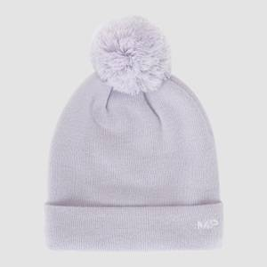 MP Bobble Hat - Lilac/White