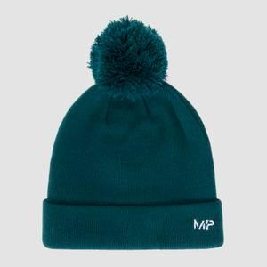MP Bobble Hat - Deep Teal/White