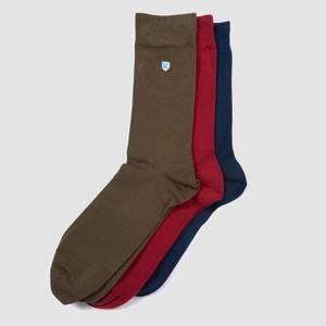 Barbour Men's 3-Pack Crest Socks - Navy