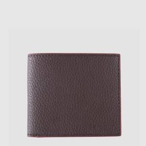 Barbour Men's Grain Leather Billfold Wallet - Dark Brown