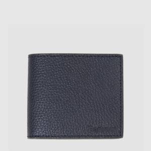 Barbour Men's Grain Leather Billfold Coin Wallet - Black