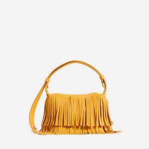 Simon Miller Women's Vegan Mini Fringe Puffin Bag - Yolk Yellow