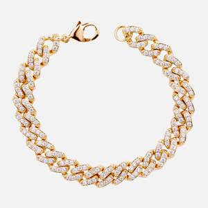 Crystal Haze Women's Mexican Chain Bracelet - Gold