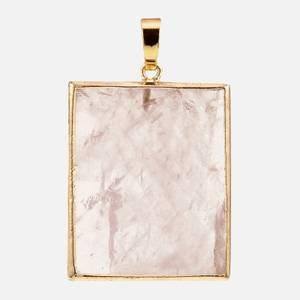 Crystal Haze Women's Rose Quartz Pendant - Pink