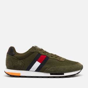 Tommy Jeans Men's Retro Mix Pop Running Style Trainers - Dark Olive