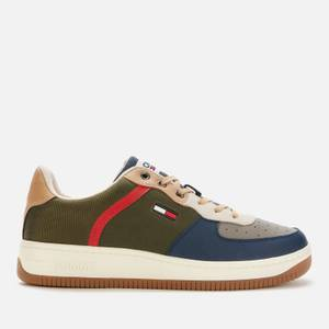Tommy Jeans Men's Basket Cupsole Trainers - Dark Olive