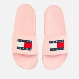 Tommy Jeans Women's Flatform Pool Slide Sandals - Light Pink
