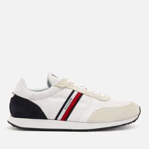 Tommy Hilfiger Men's Lo Mix Stripes Running Style Trainers - White