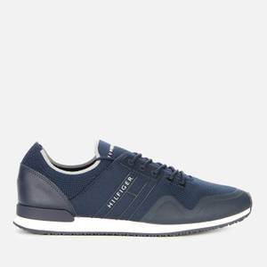 Tommy Hilfiger Men's Iconic Sock Knit Running Style Trainers - Desert Sky