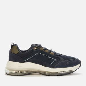 Tommy Hilfiger Men's Air Runner Leather Mix Trainers - Desert Sky