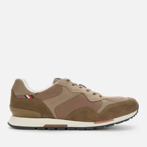 Tommy Hilfiger Men's Seasonal Mix Sustainable Retro Running Style Trainers - Army Green