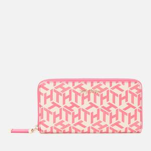 Tommy Hilfiger Women's Iconic Tommy Large Monogram Wallet - Hot Magenta