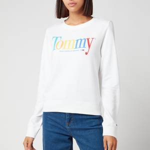 Tommy Jeans Women's Tjw Regular Colour Tommy Crew - White