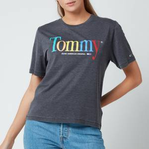 Tommy Jeans Women's Tjw Relaxed Color Tommy Tee - Black